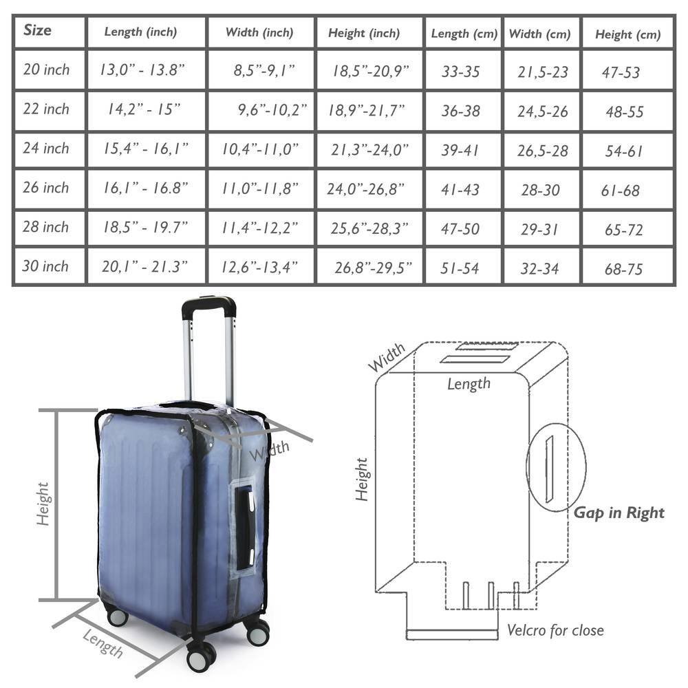 chaussures élégantes style unique fournisseur officiel Couvertures de valise imperméable de voyage housse ...