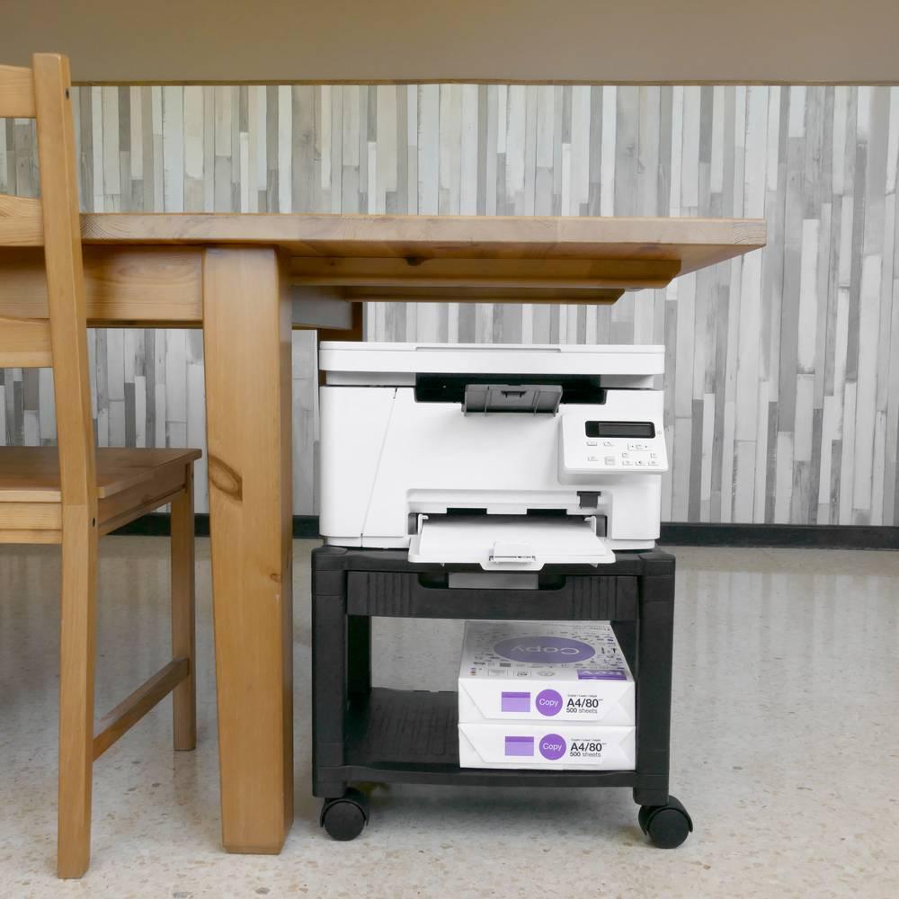 bureau roulant pour imprimante support avec roulettes. Black Bedroom Furniture Sets. Home Design Ideas