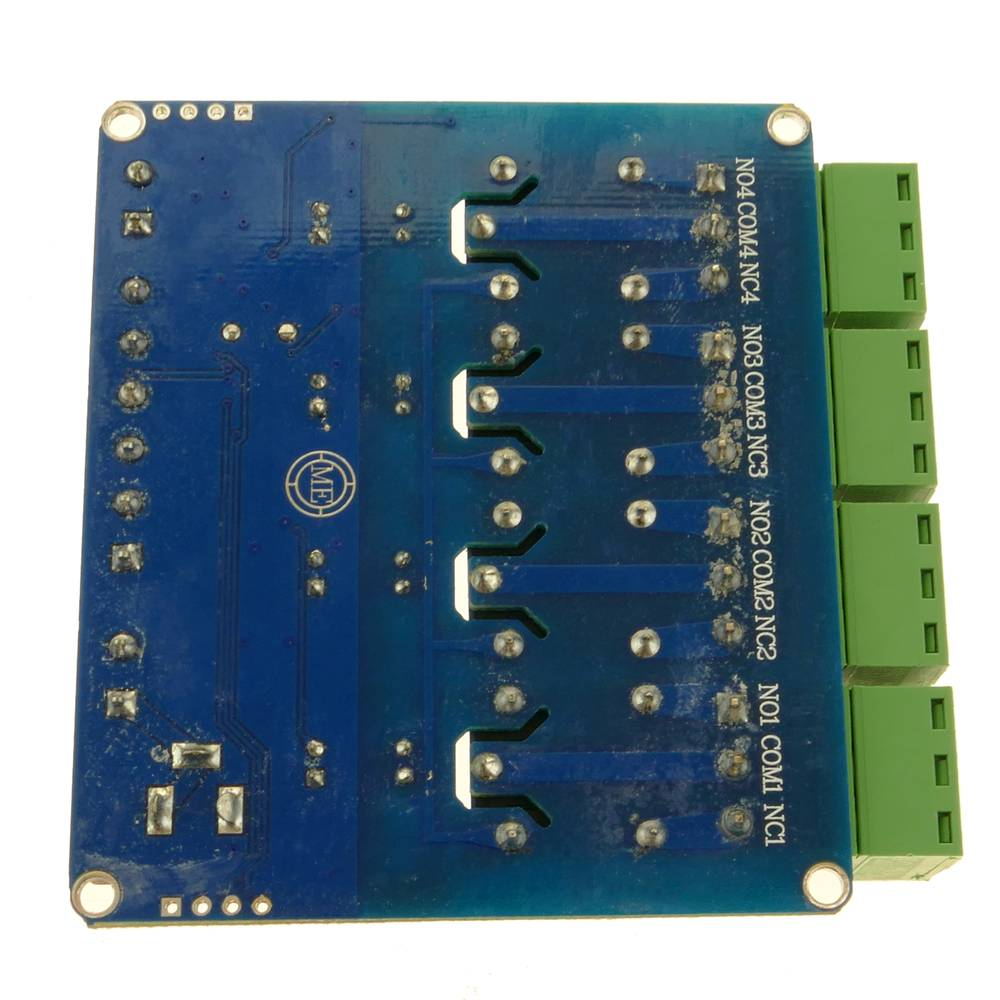 Printed circuit with 4 relays with Modbus RTU DIY STM8S103