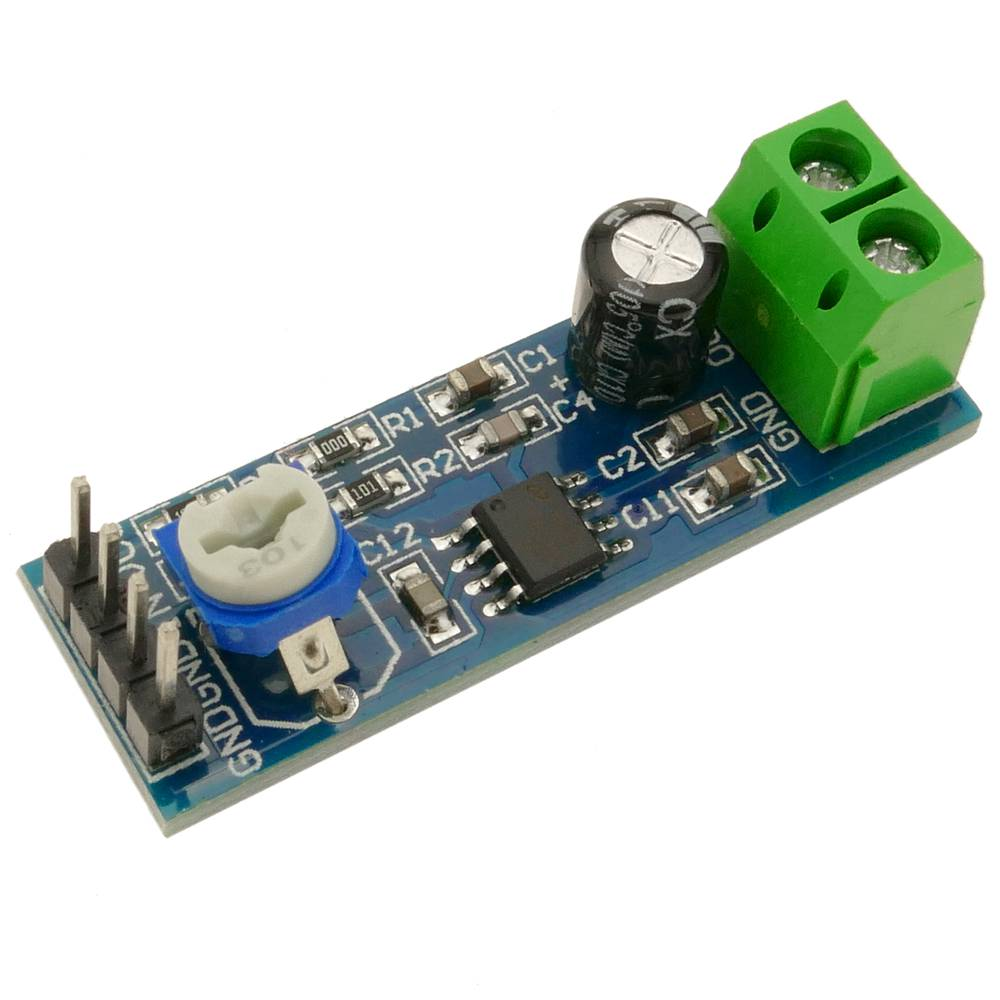 Integrated audio amplifier circuit LM386  Model DW-0860