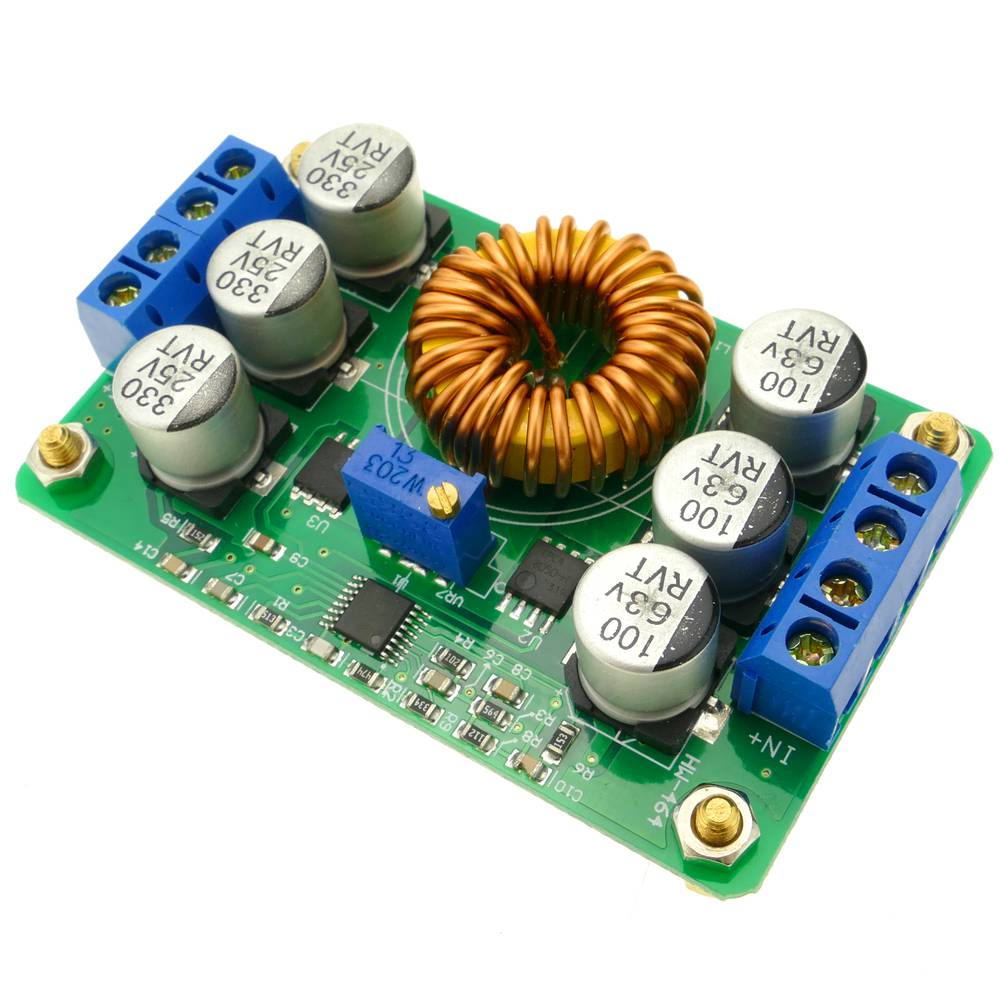Power supply DC-DC IN 16-40V to 1-12V from 6A with converter
