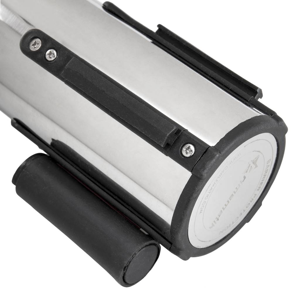 Poste separador de cinta extensible de 350x76x910mm 5m negro dual 2 unidades Cablematic