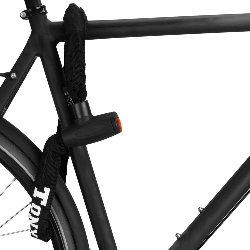 Cadena antirrobo de acero con candado para bicicleta de 19x900 mm con