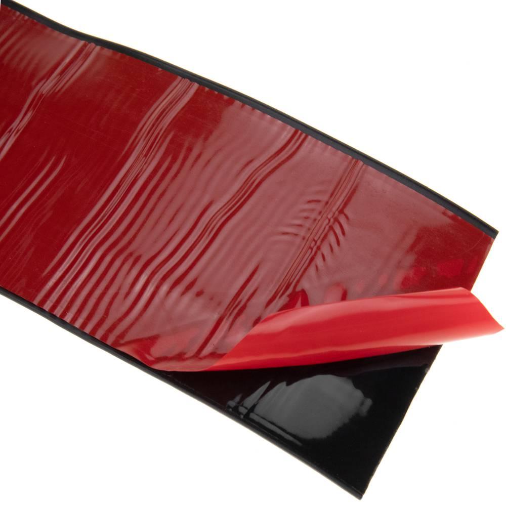 PrimeMatik Longitud 15 m Negro Rodapi/é Flexible Autoadhesivo 50 x 20 mm