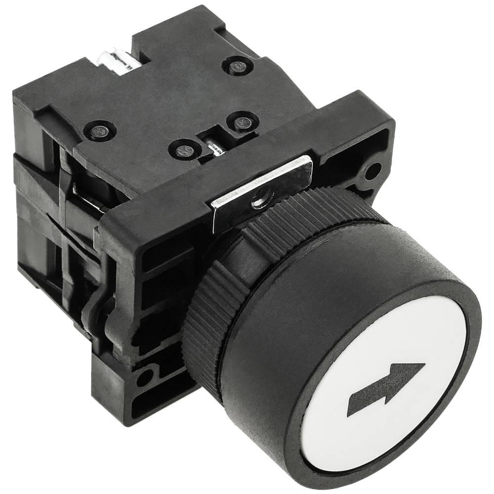 1 N//O XB2BA3341C momentané blanc encastré bouton-poussoir avec flèche Mark remplace TELE