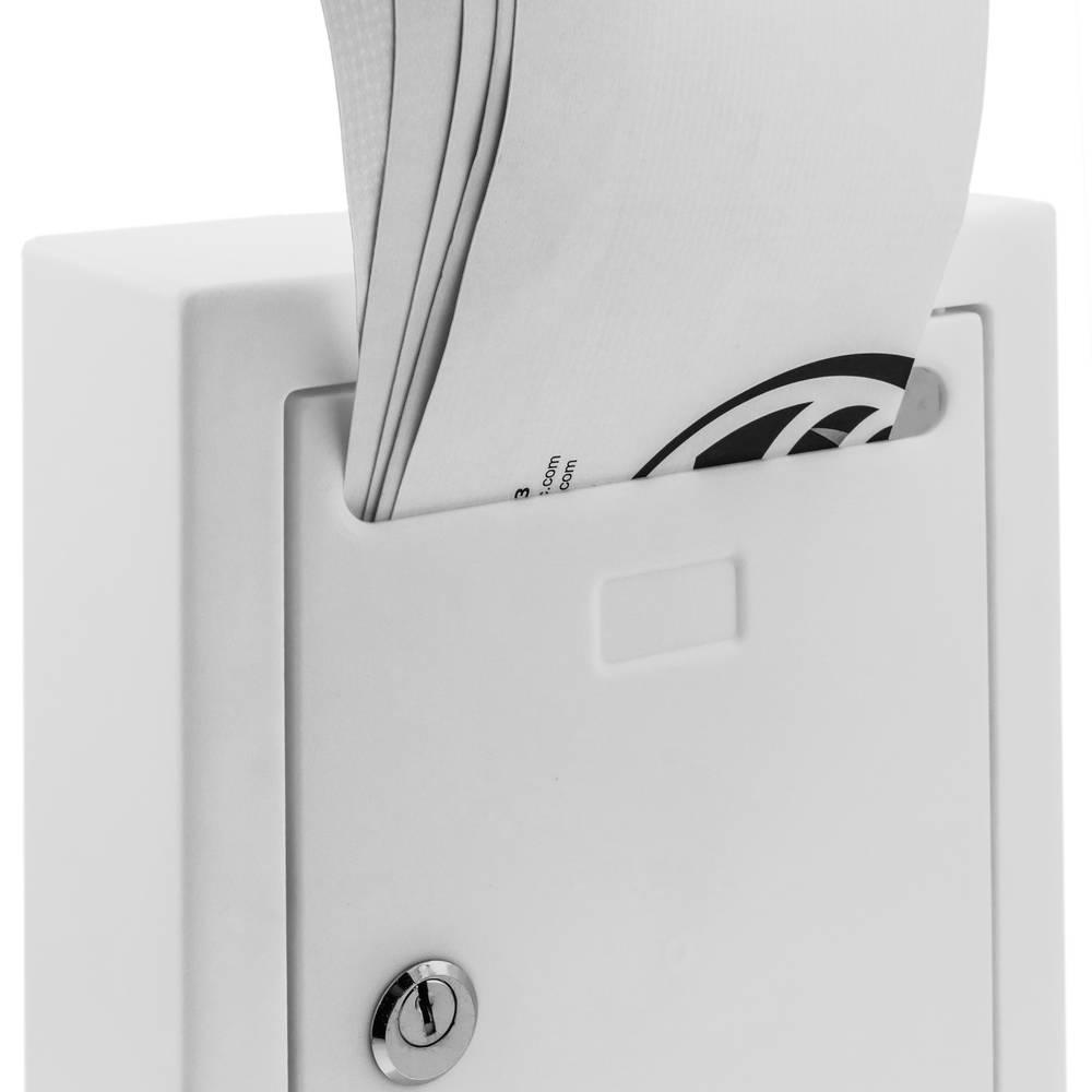 Boîte aux lettres en plastique coloré blanc pour mur 205x80x273mm