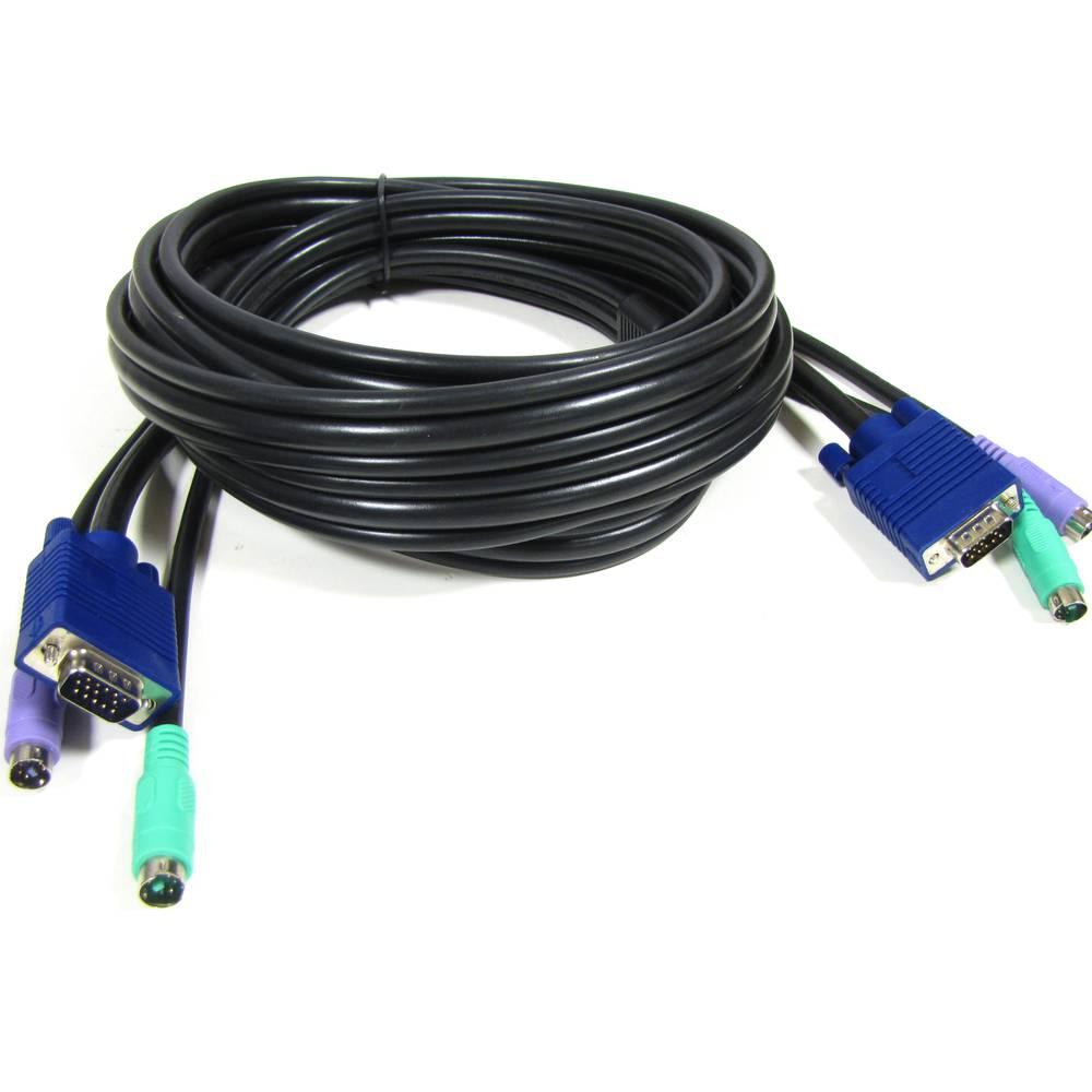 Cable VGA Teclado Ratón ATX 1 8m (M/M)