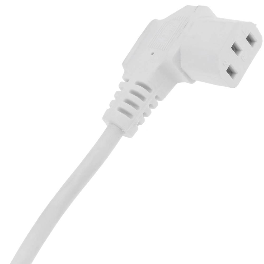 Câble Nema 5-15 IEC c13 féminin Blanc 2 m PVC computerversorgungska connecteur B