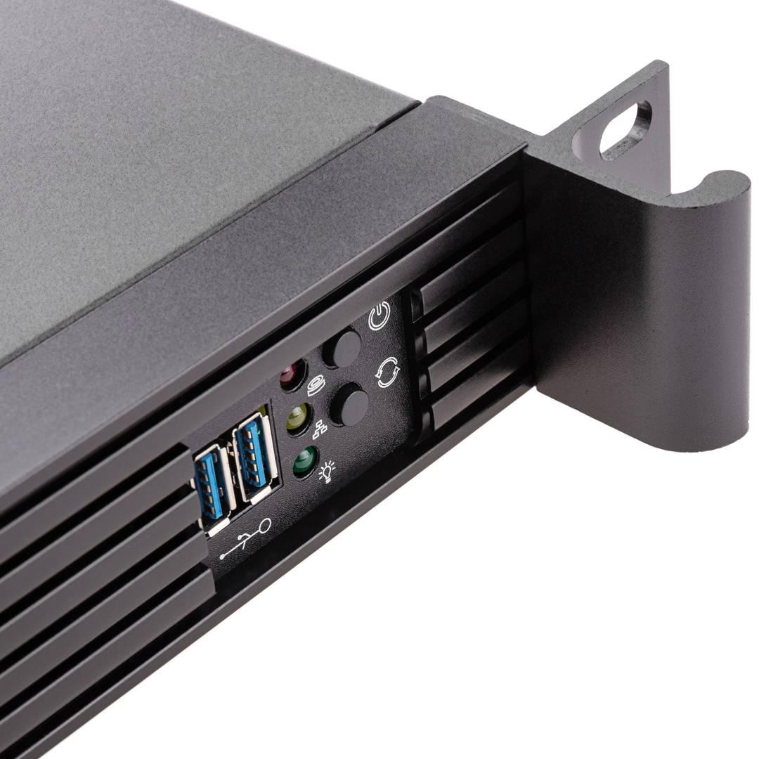 Server case rackmount chassis 19 inch IPC microATX 1U 2x3 5