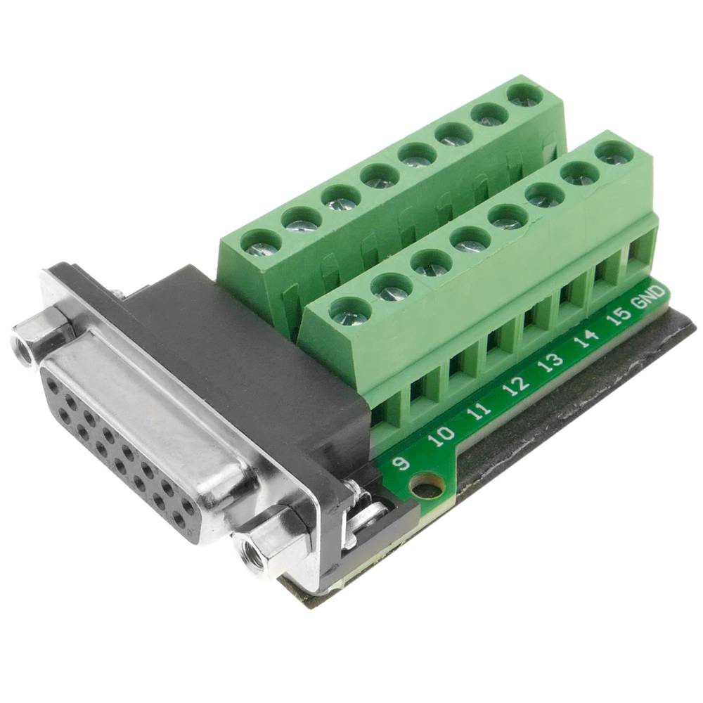 Adapter connection DB15- to 16-pin terminal block ... on