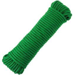 PrimeMatik Cuerda de tendedero de PVC con n/úcleo de Polipropileno 30 m x 3 mm Amarilla