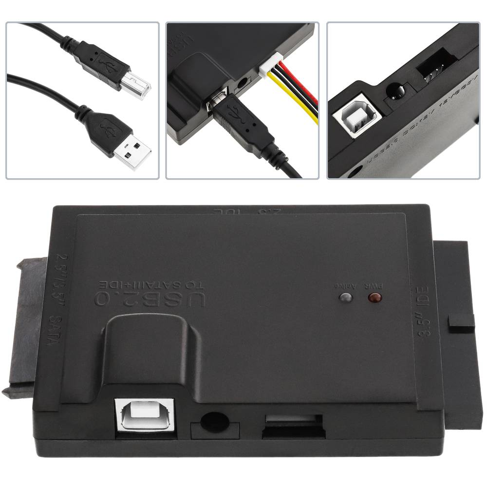 Connection Kit SATA-HDD IDE to USB 2 0 with power supply