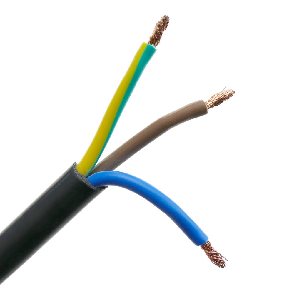 Cavo di alimentazione dispositivi CONNETTORE PROLUNGA CAVO PVC h05vv-f 3x1,5 10m Nero