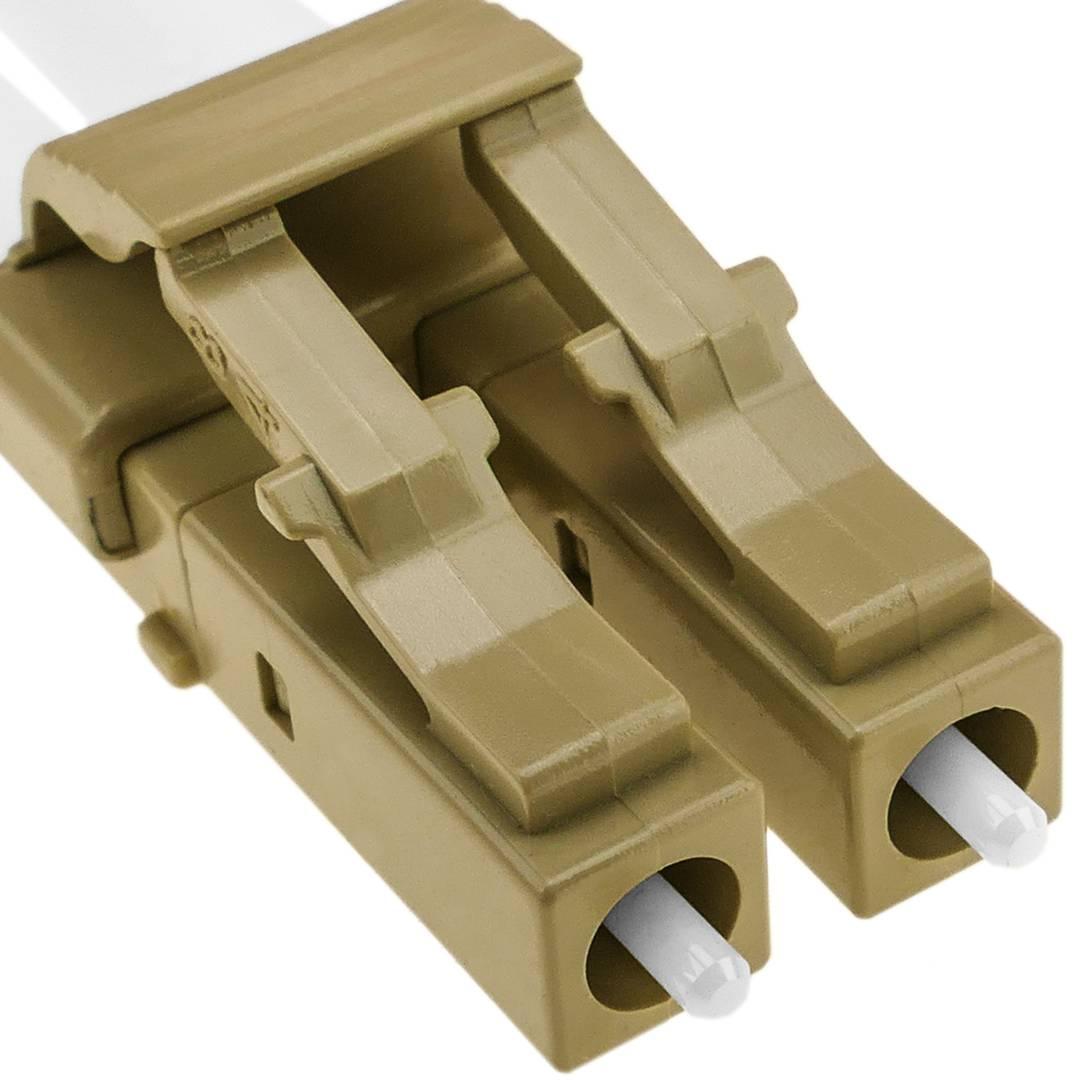 Fiber Optic Cable LC//UPC to LC//UPC,OM3 Multimode Duplex 50//125um LSZH 25M Elfcam
