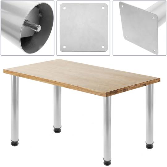 Round Table Legs For Desks Cabinets, Round Furniture Legs