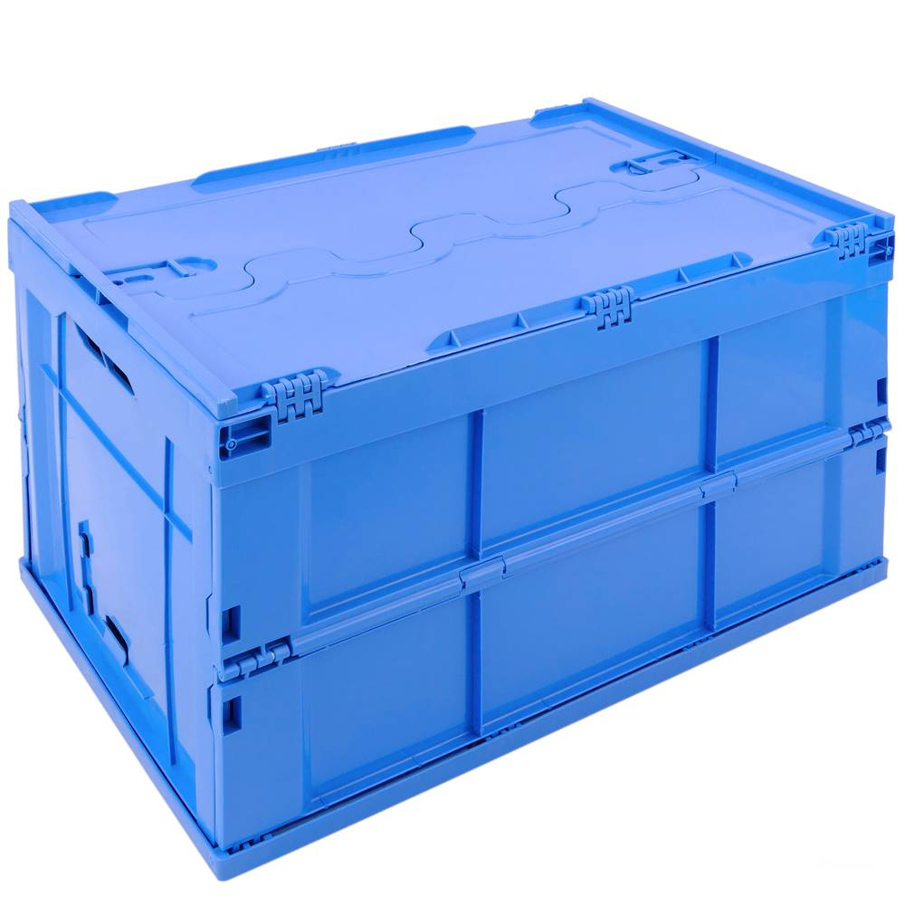 Contenitori In Plastica Pieghevoli.Scatola Plastica Eurobox Pieghevole E Impilabile Contenitore In Blu