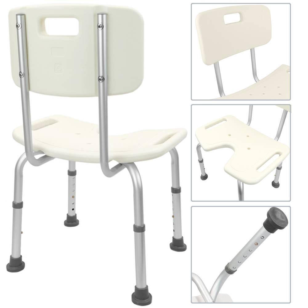 Chaise de douche réglable en hauteur pour les personnes âgées avec