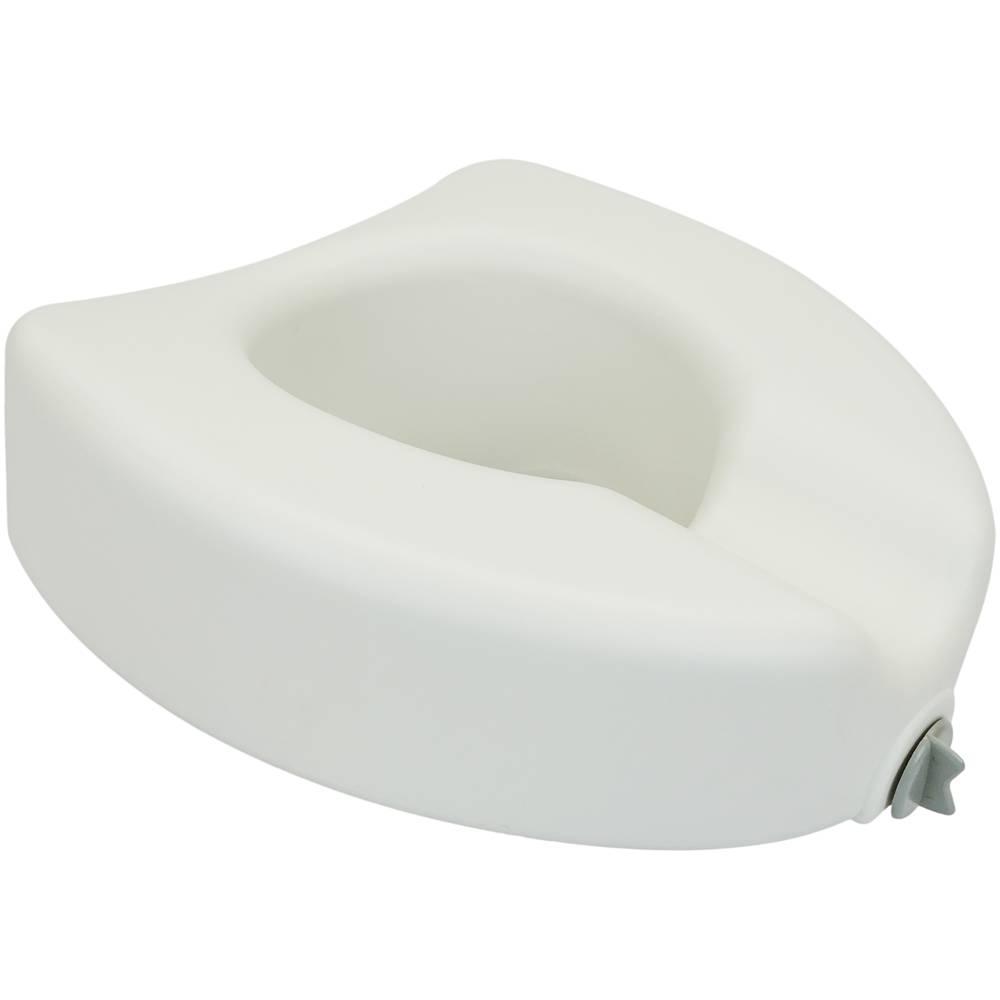 Rialzo per WC con braccioli sedile WC confortevole con manici altezza 12 cm