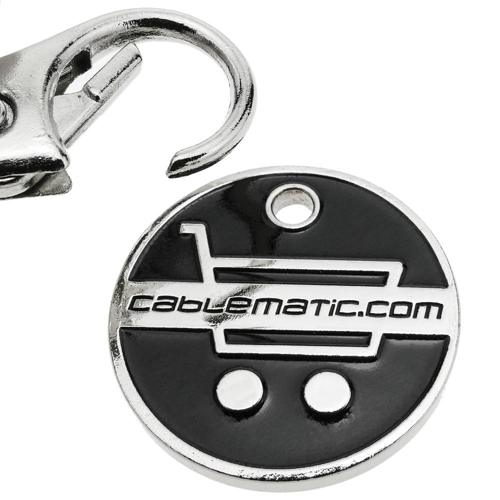 KE0Y1 Cablematic Euro Coin Keyring for Shopping Cart One Size