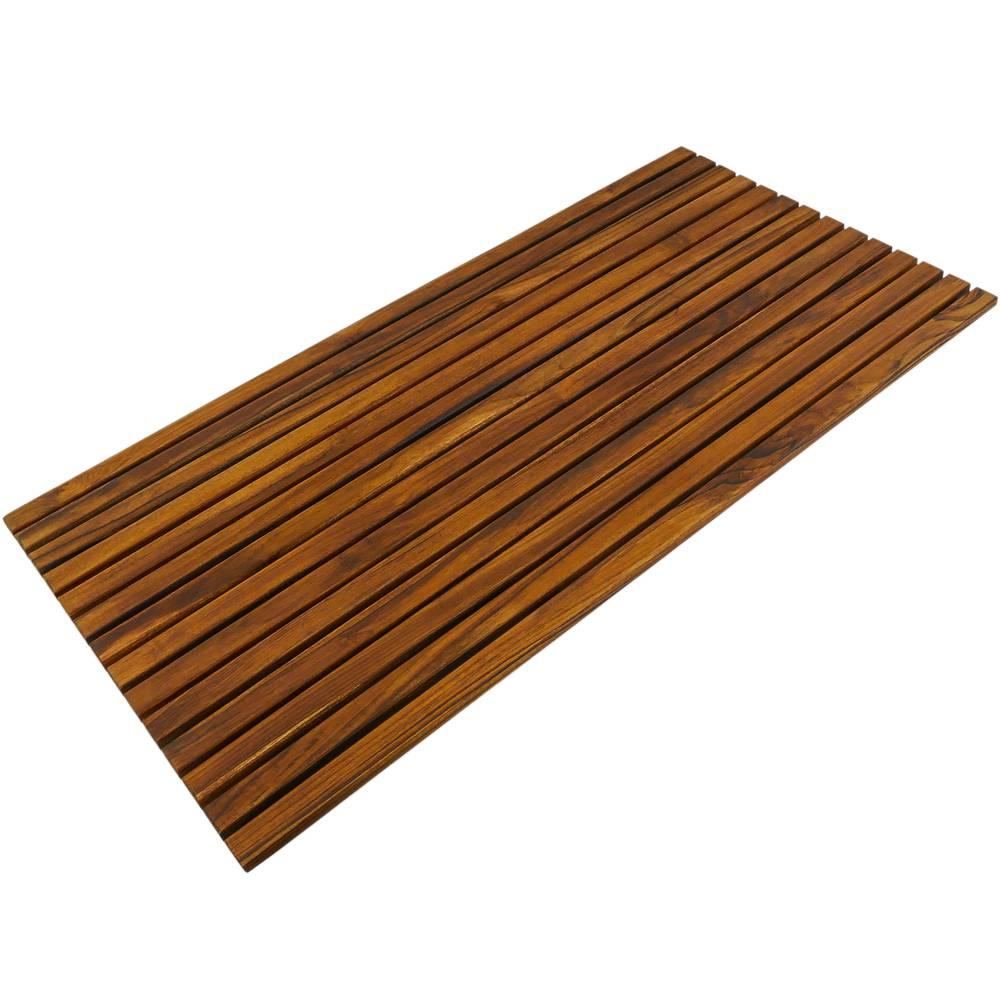 Caillebotis de douche en bois de teck certifié 16 x 16 cm
