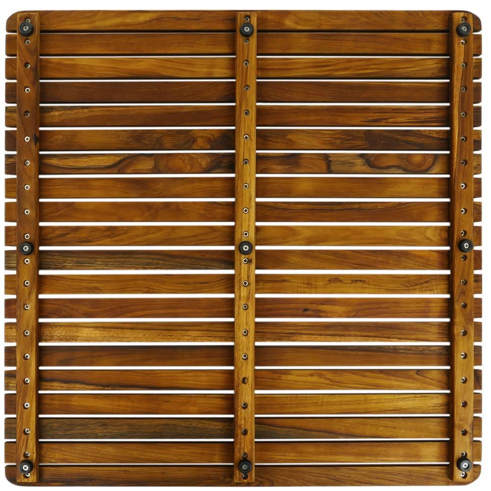 Shower Mat 61 X 61 Cm Square Certified Teak Wooden Platform