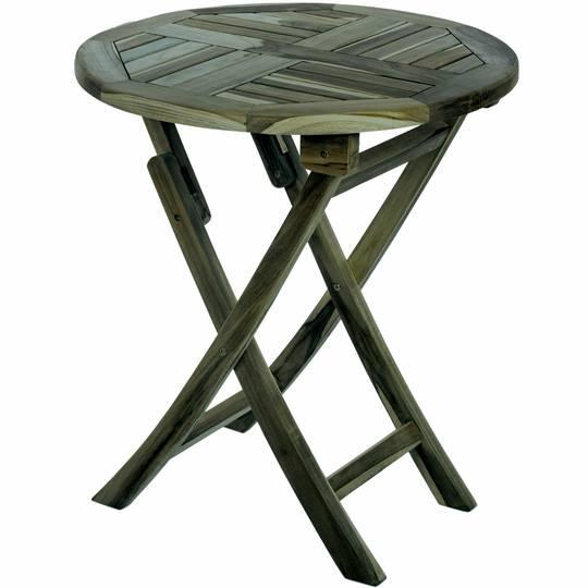 Round Folding Garden Table 66 Cm In, Round Wooden Table For Garden