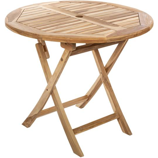 Round Folding Garden Table 90 Cm In, Outdoor Foldable Round Dining Table