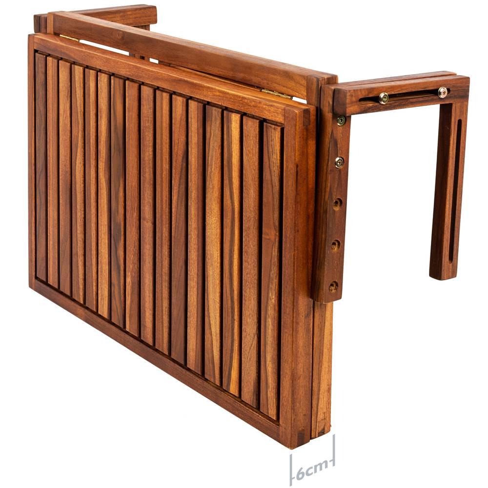 Tavolo pieghevole 60 x 40 cm in legno di teak certificato ...