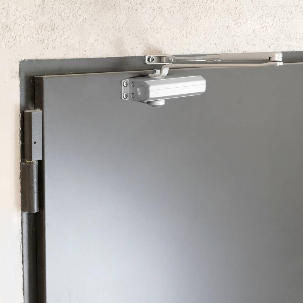 Cierrapuertas Automatico Hidr/áulico Cierrapuertas Muelle de Aleaci/ón Aluminio para Comercial y hogar Puerta de 40-65 kg con video instalaci/ón Certificaci/ón EN1154 Blanco Cierre Autom/ático Ajustable