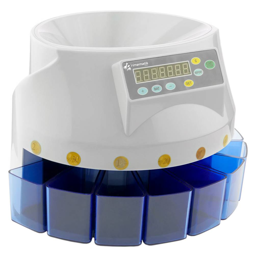Coin counter and sorter for Euro Money cash counter and