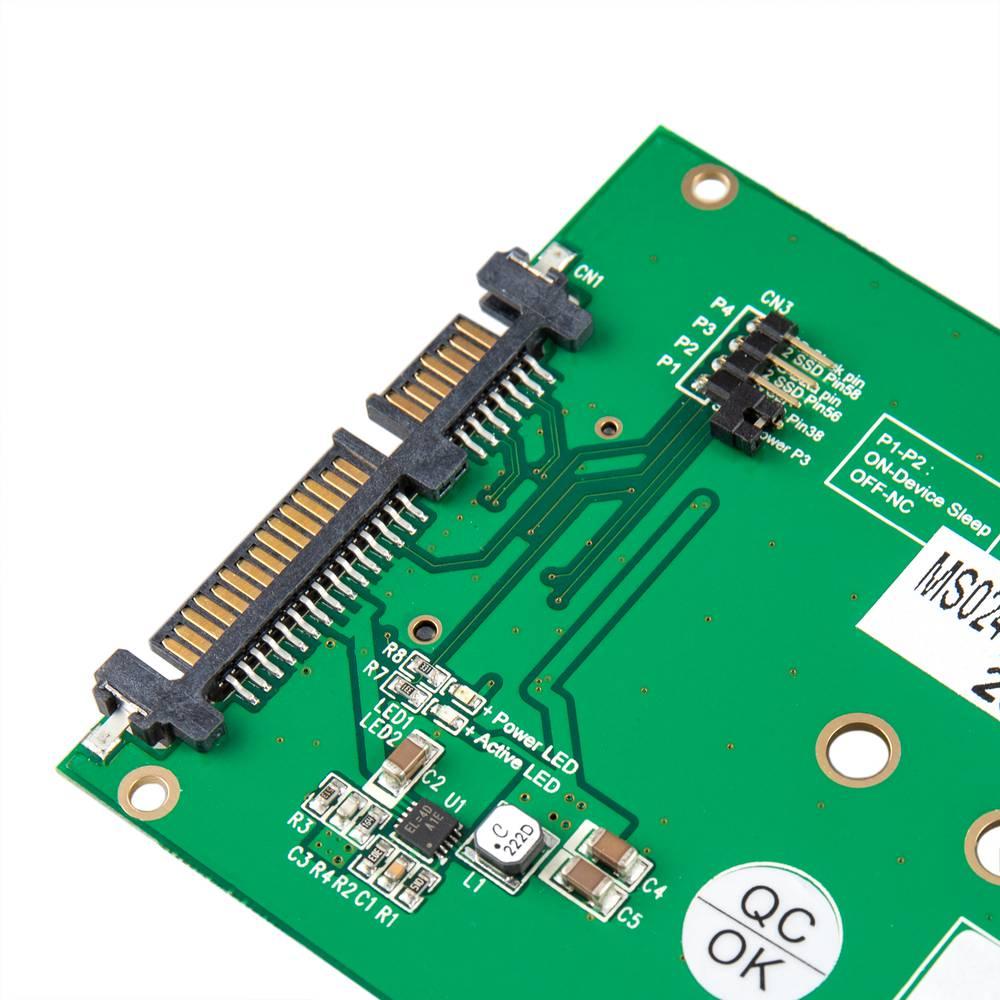 Sata Festplatte Adapter Auf Ssd Ngff M 2 1 Port Mit Aluminium Gehause Mit 2 5 Adapter Cablematic