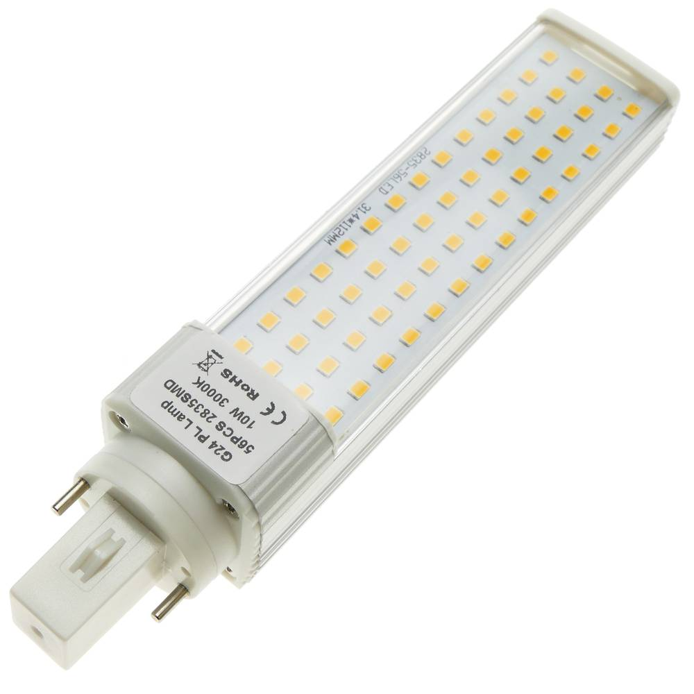 Lampe 10w Ampoule 85 À Chaude Tubes Led Cablematic 265vac Plc G24 Pk80wOn