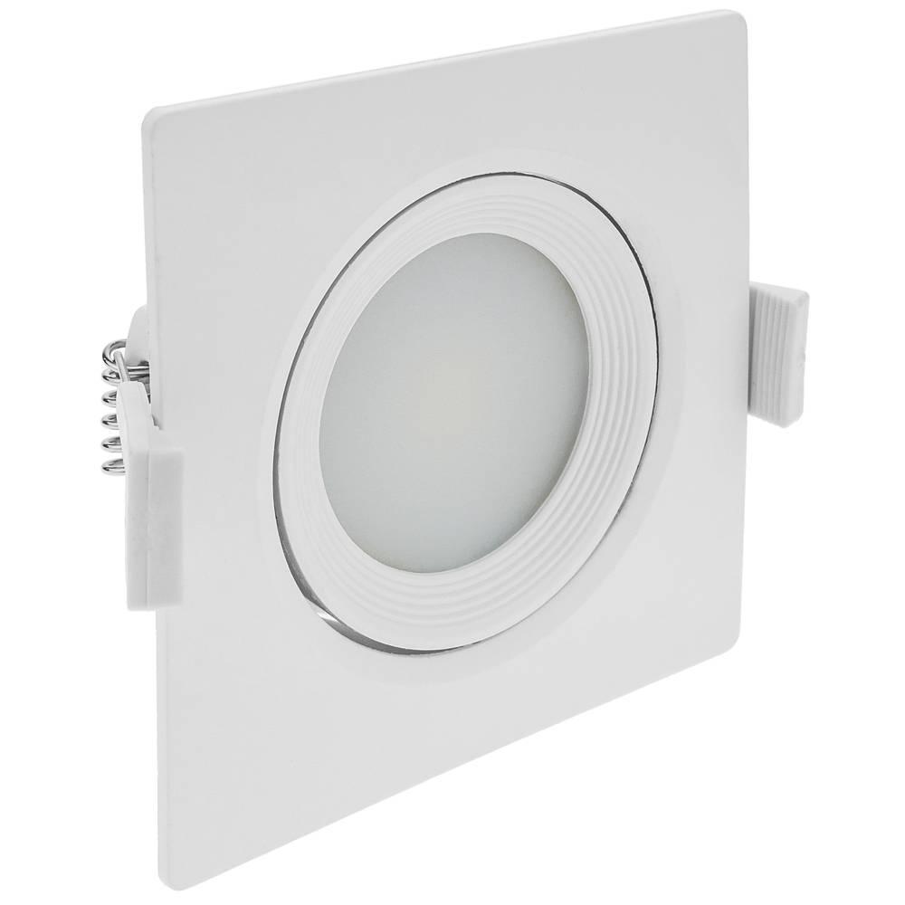 Bandeau Led Encastrable Plafond feu à led 90mm carré encastré 7w blanc jour 6500k - cablematic