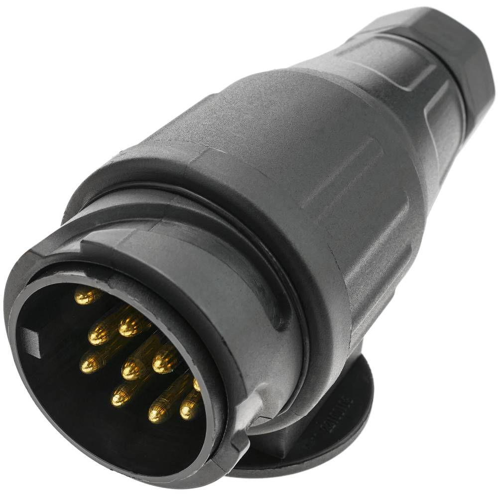 BYFRI 13 Pin 13 Pin Plug and Contacto del Remolque del Enchufe a Prueba De Agua con Resorte del Cable 300 Cm Extensi/ón De Cableado Caravana Conectores Accesorios