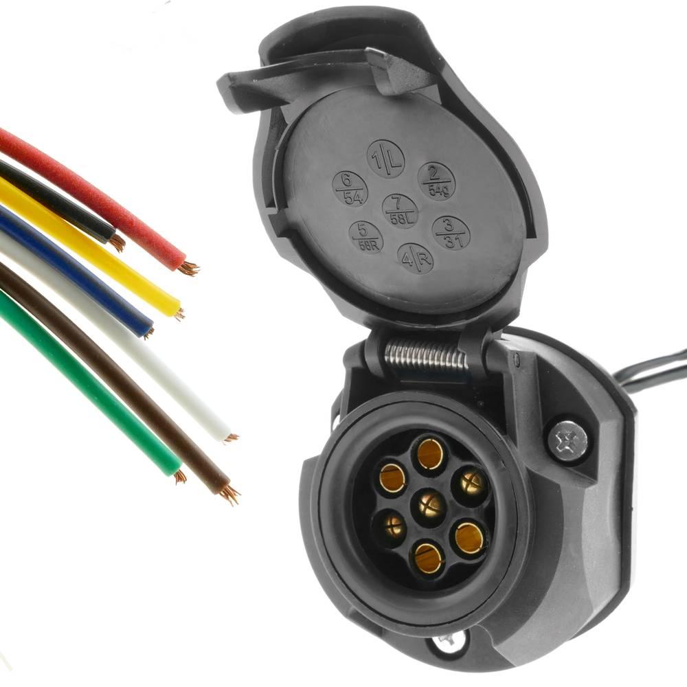 connettori in plastica tipo N Matel Service Cavo elettrico a spirale a 7 poli 24 V per rimorchi