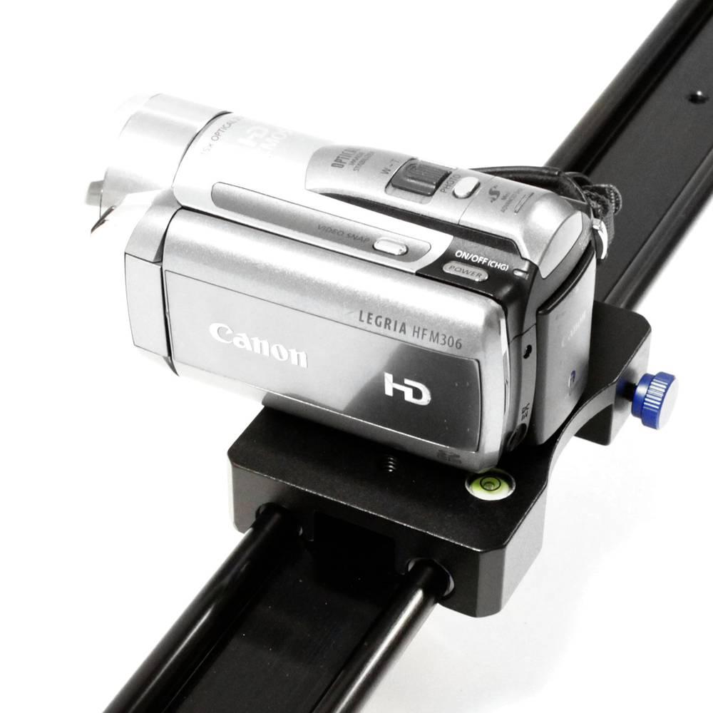 Rail for traveling traveling DSLR camera or video length
