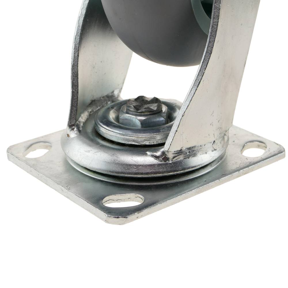 Industrial wheel swivel castor of polyurethane without brake