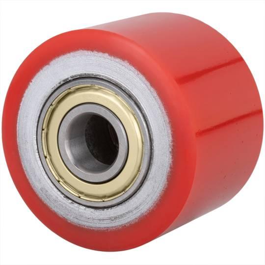PrimeMatik Roue pour transpalette Rouleau pour Palette en polyur/éthane 80 x 80 mm 700 kg