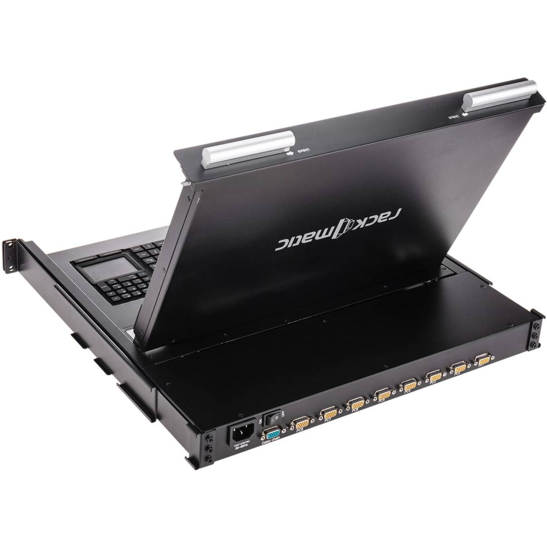 Console and 8-port KVM switch IP65 for rack server 19
