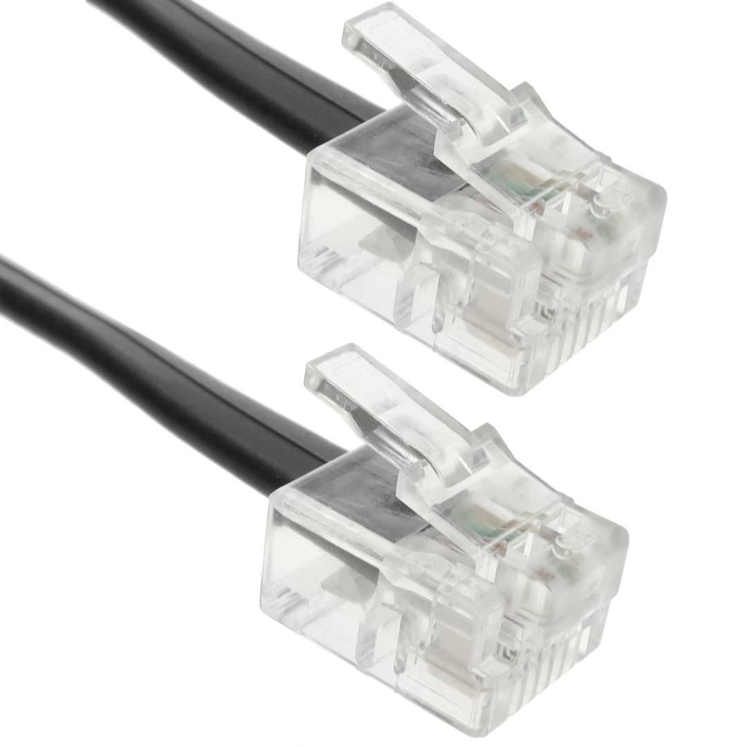 telephone cable rj11 4-wire (1m)