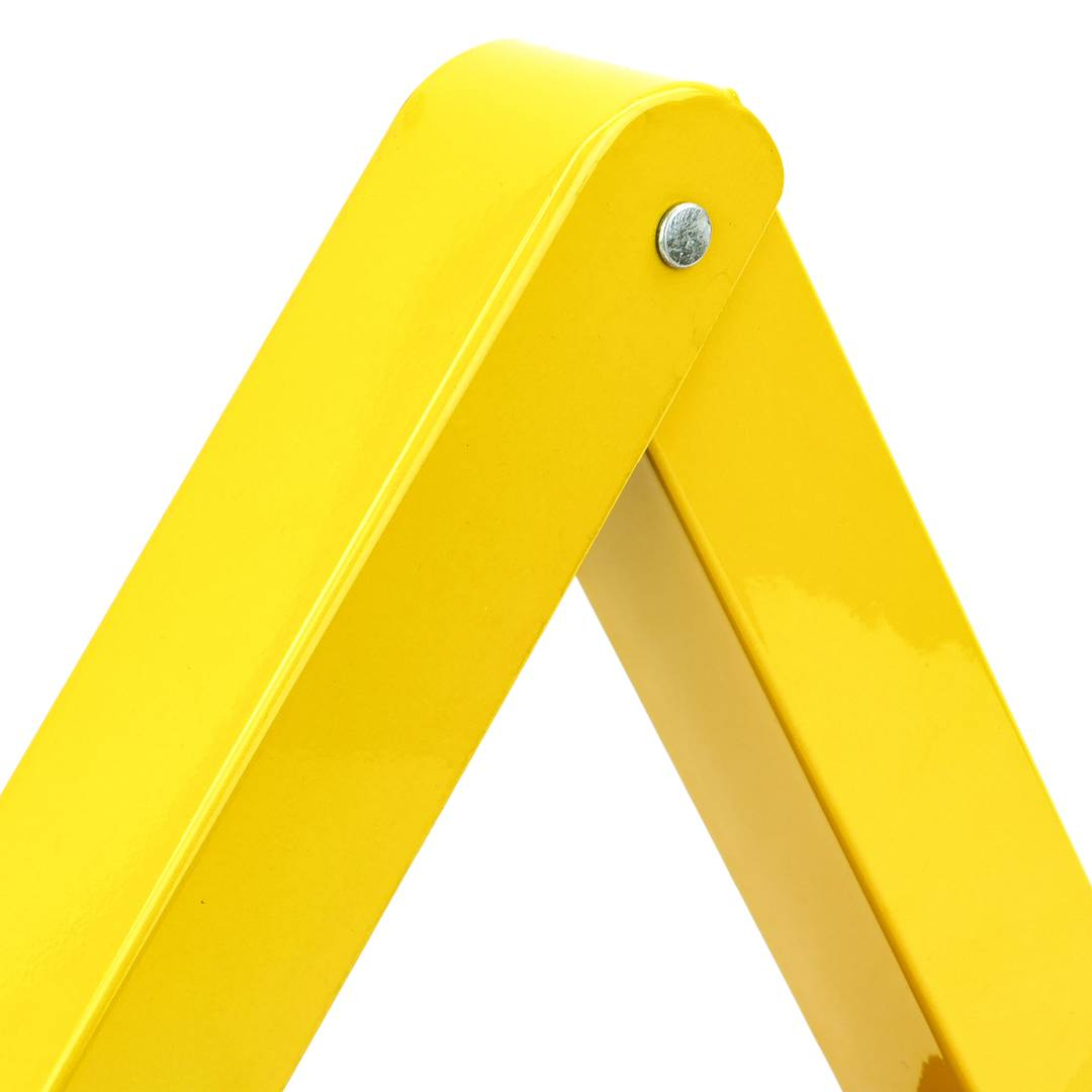 Folding parking barrier triangular metal lock - Cablematic