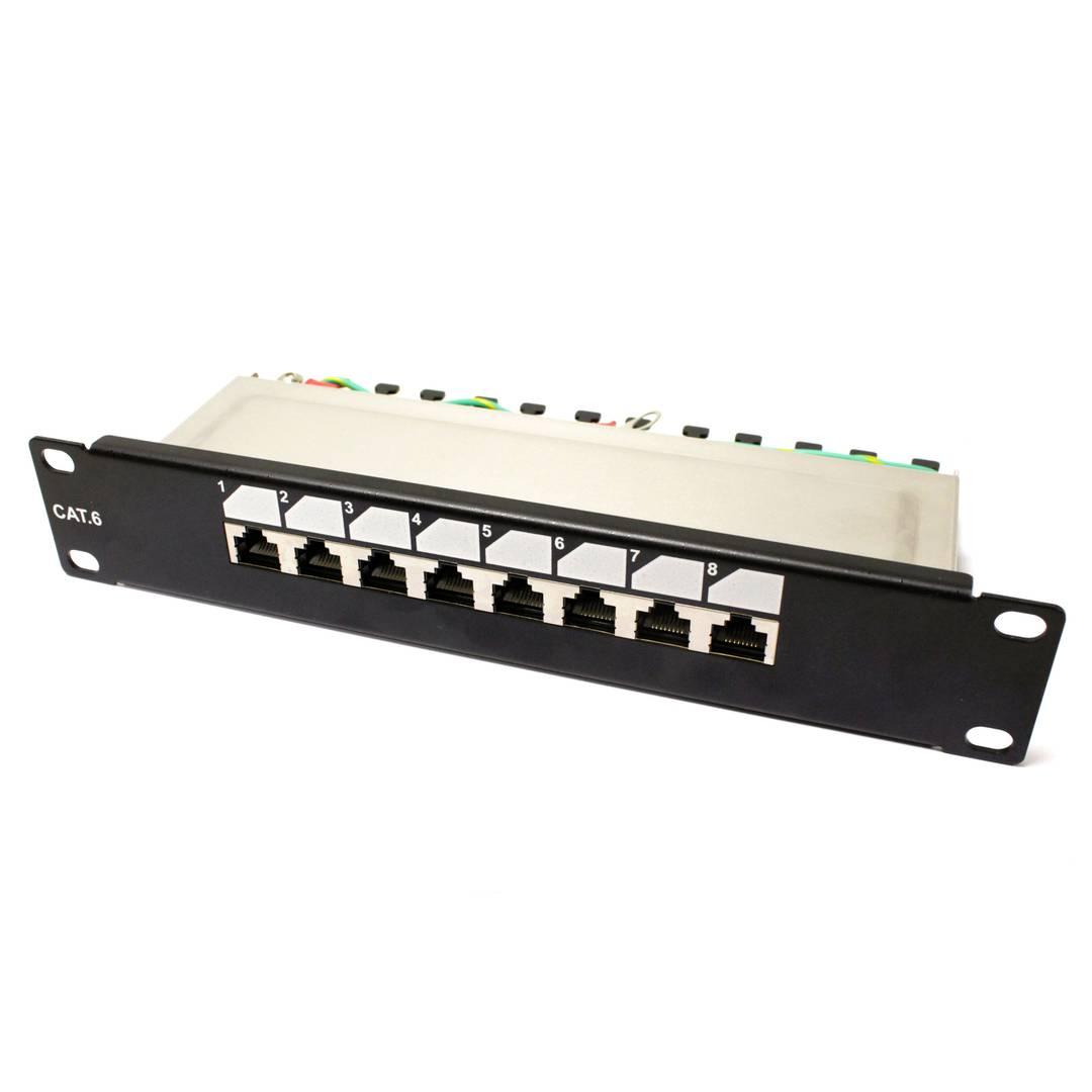 TENRack RackMatic Patch Panel 10 inch 8-Port RJ45 FTP Cat 6