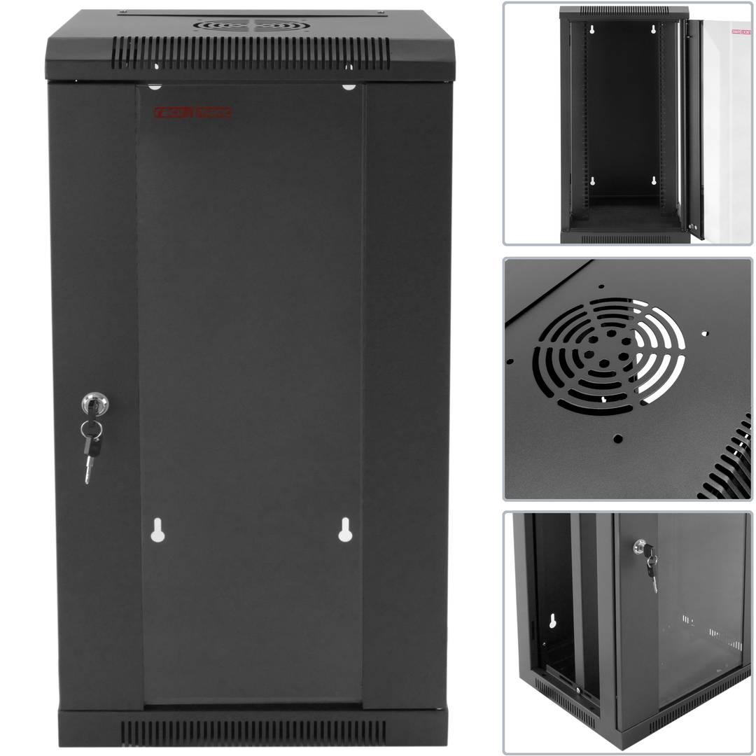Server Rack Cabinet 10'' 15U 370x300x740mm model TENRack PRO