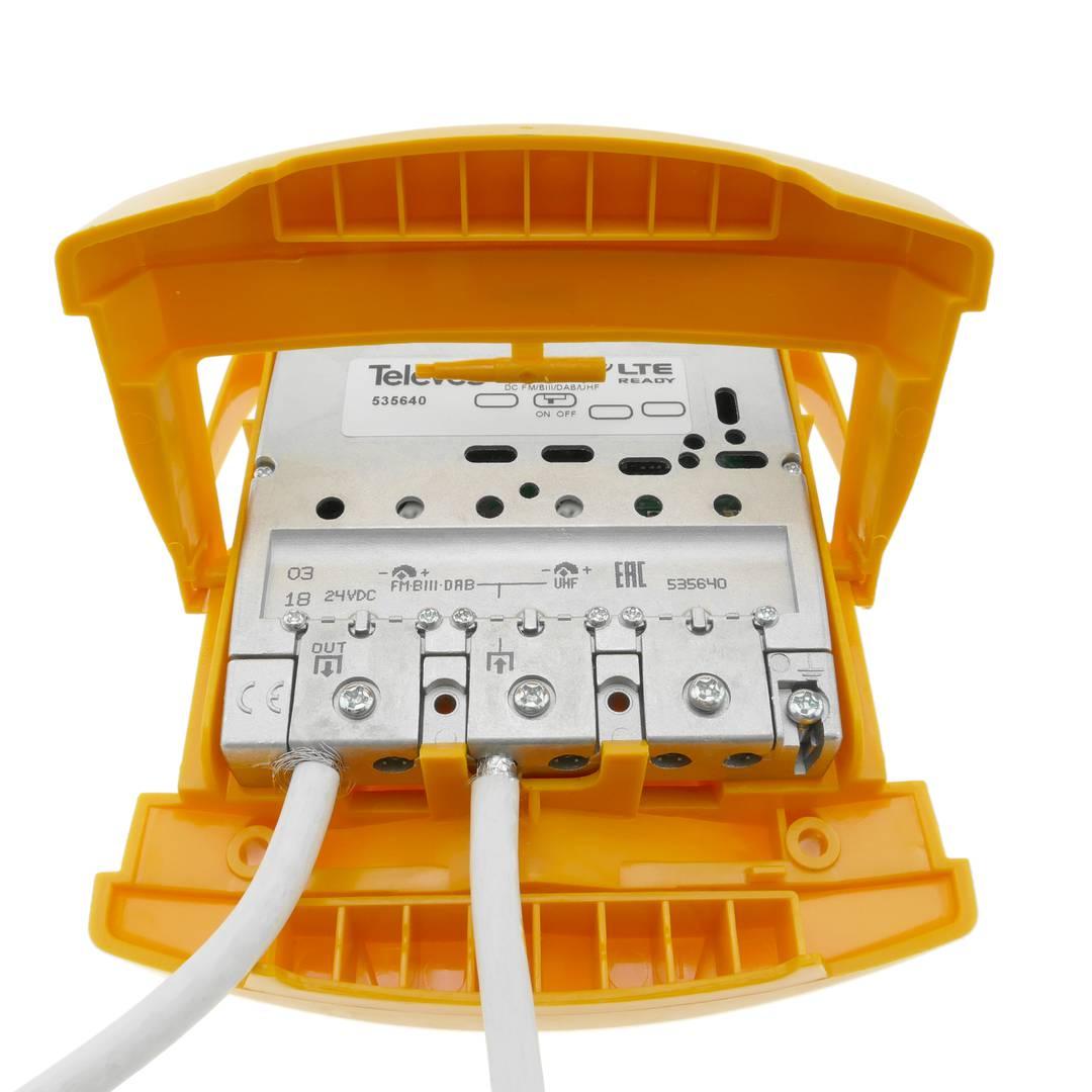 Amplificateur De Mat D Antenne Tv 1e 1s Fm Biii Dab Uhf Modele Televes 535640 Cablematic