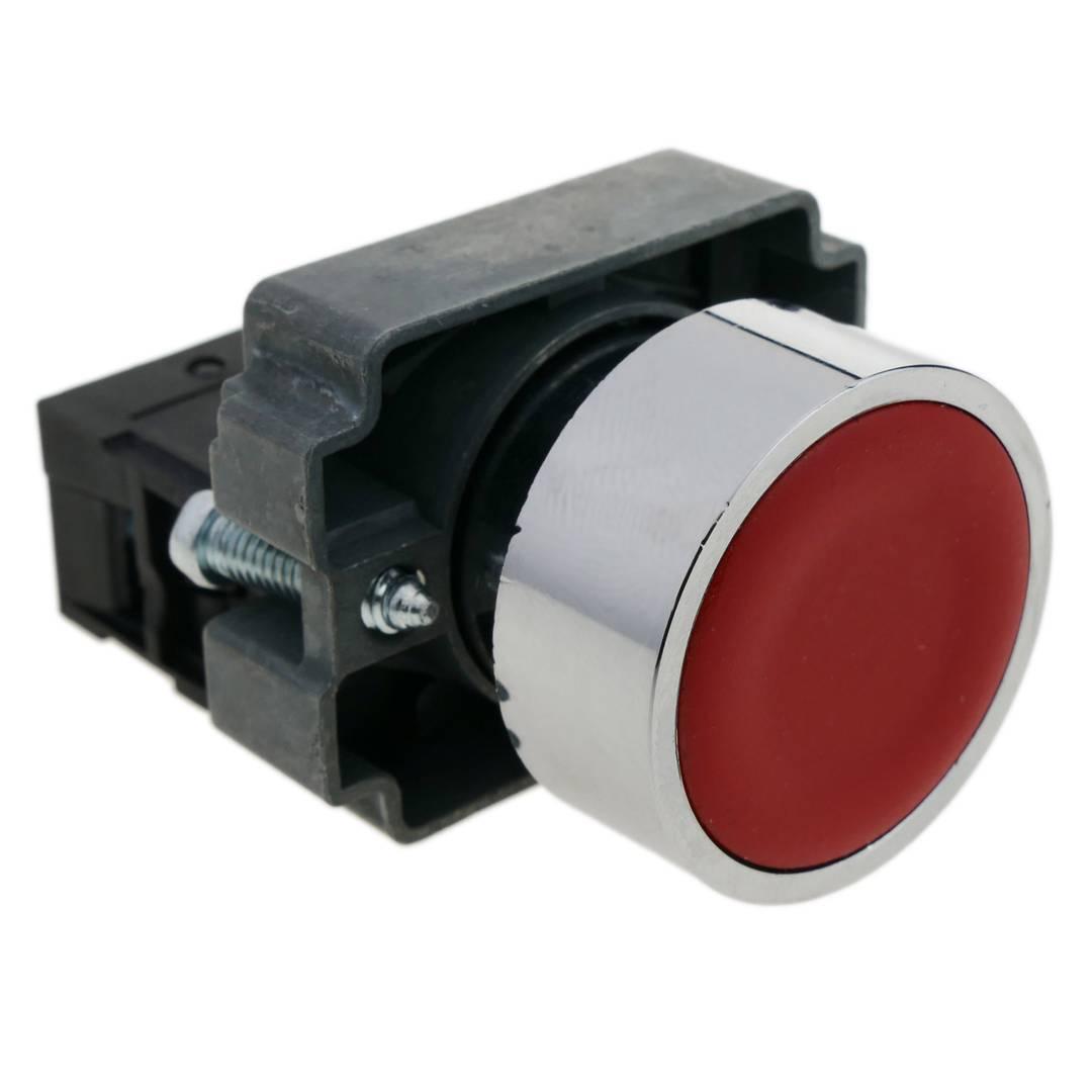 1PC 22 mm Rouge maintenu Latching Bouton Poussoir Commutateur 1NC//1NO Ith 10 A