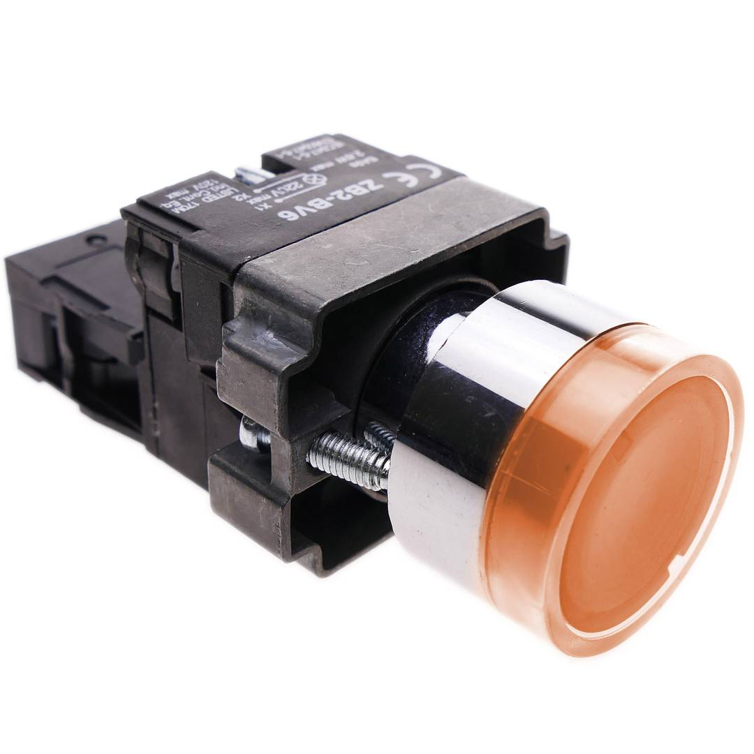 Push Button Momentary 22mm 1no 400v 10a Normal Open With Led