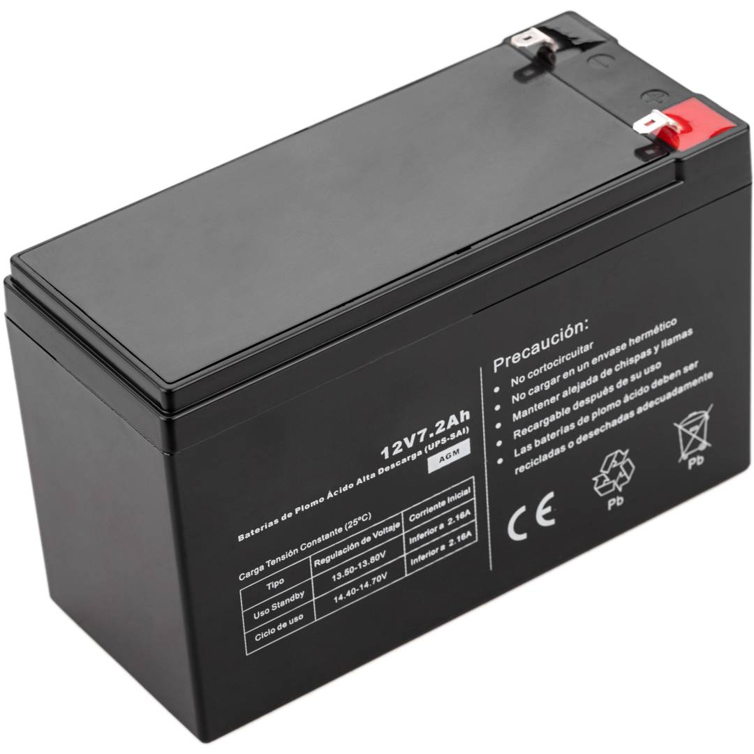 Sealed lead acid battery 12V 7.2Ah UPS replacement - Cablematic