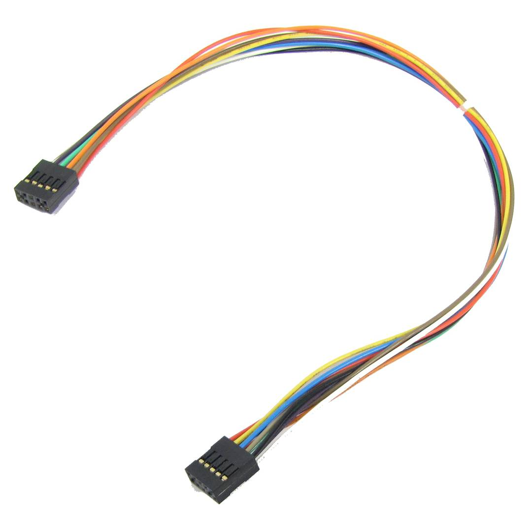 Cable interno IDC10 para puerto USB y serie de 30 cm hembra a hembra