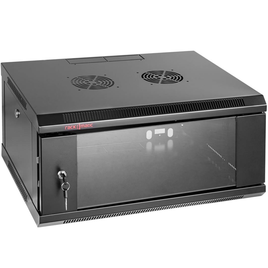 Server rack cabinet 19 inch 4U 600x450x280mm wallmount