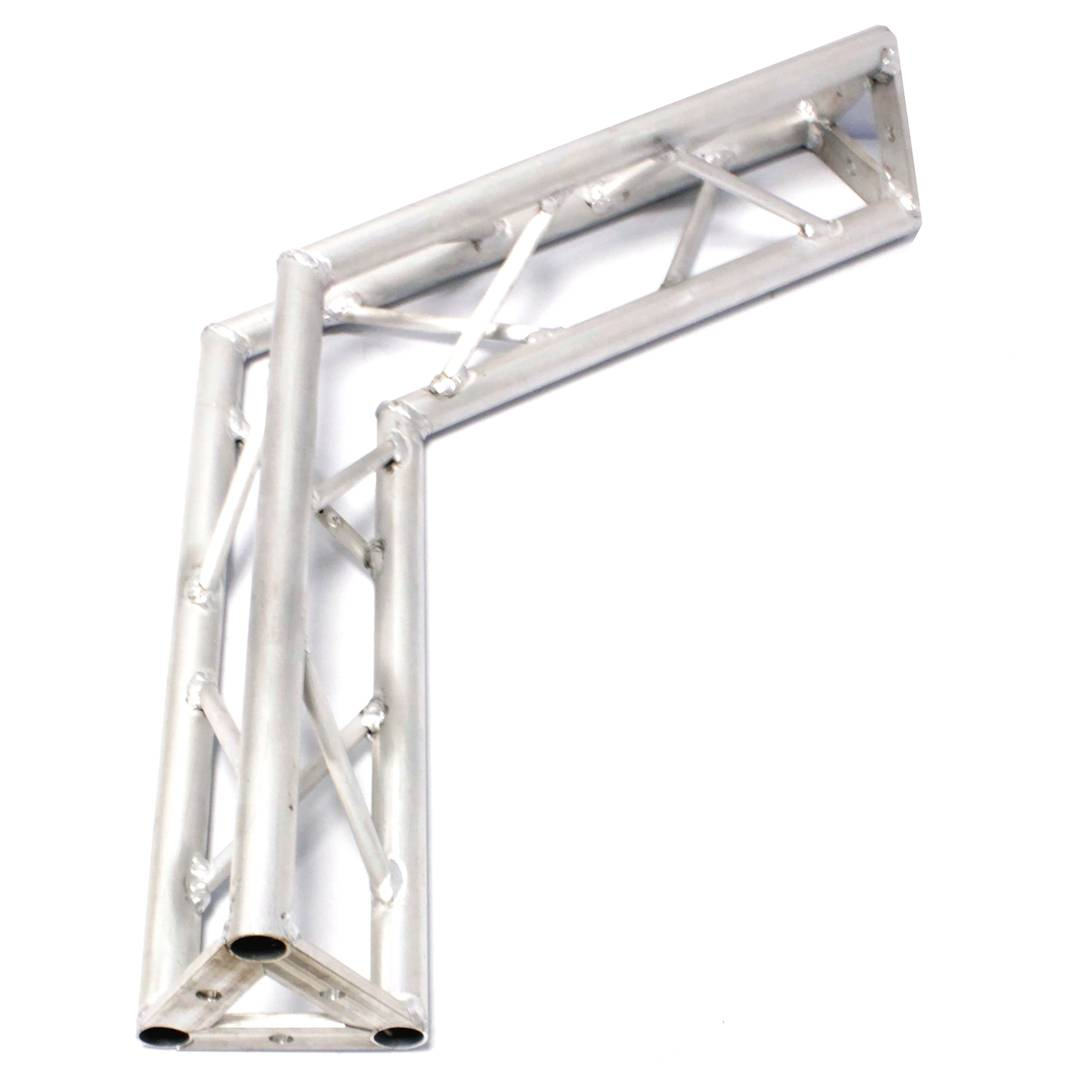 Truss triangular silver aluminum 150mm 120-degree angle